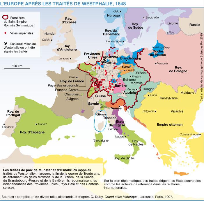 carte europe xve