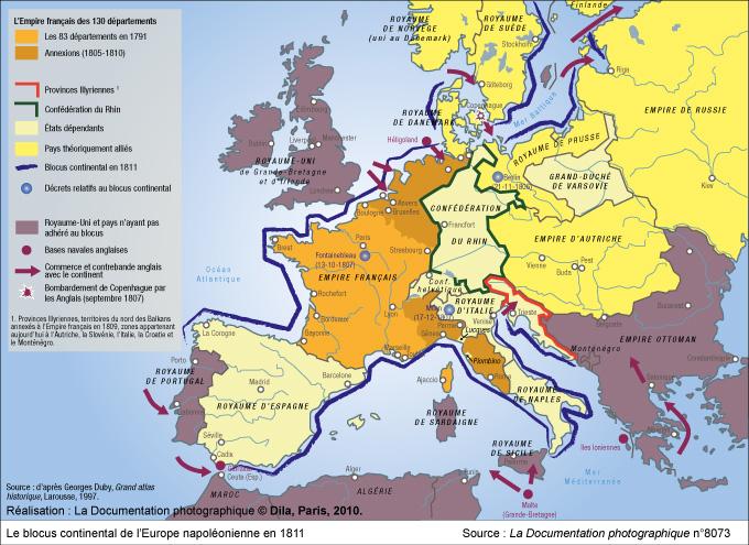 carte europe 1789